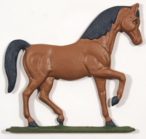 Whitehall Life-Like Multi-Color Horse Mailbox Ornament