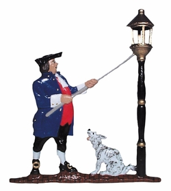 Whitehall Life-Like Multi-Color Lamplighter Mailbox Ornament