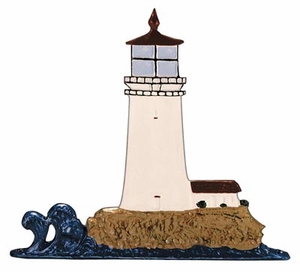 Whitehall Life-Like Multi-Color Lighthouse Mailbox Ornament