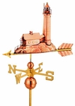 "Lighthouse Full Size Weathervane - 27""L X 16""H X 6""W"
