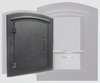 Locking Column Mailbox Black (stucco column purchased separately)