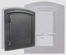 Manchester Locking Column Mailbox with Plain Door in Black (Stucco Column Purchased Separately)