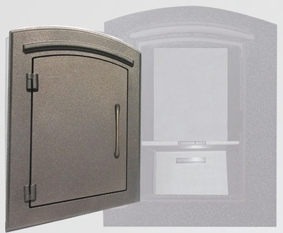 Manchester Locking Column Mailbox with Plain Door in Bronze (Stucco Column Purchased Separately)