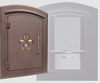 Manchester Security Locking Column Mount Mailbox with Fleur de Lis Emblem in Antique Copper (Stucco Column Not Included)