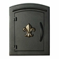 Manchester Stucco Locking Column w/decorative Fleur De Lis