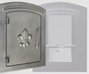 Manchester Locking Column Mailbox with Fleur de Lis Emblem in Bronze (Stucco Column Purchased Seperately)