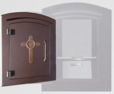Manchester Locking Decorative Cross Column Mailboxes