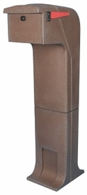 Locking/Impact Rear Access Resistant Mailbox in Brown
