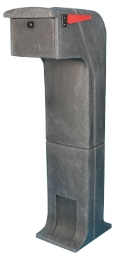 Locking/Impact Rear Access Resistant Mailbox in Charcoal
