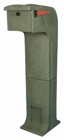 Locking/Impact Rear Access Resistant Mailbox in Green