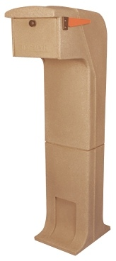 Locking/Impact Rear Access Resistant Mailbox in Sandstone