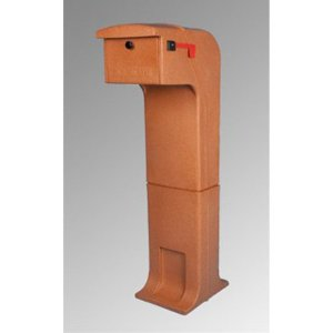 Locking/Impact Rear Access Resistant Mailbox in Terracotta