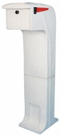 Locking/Impact Rear Access Resistant Mailbox in White