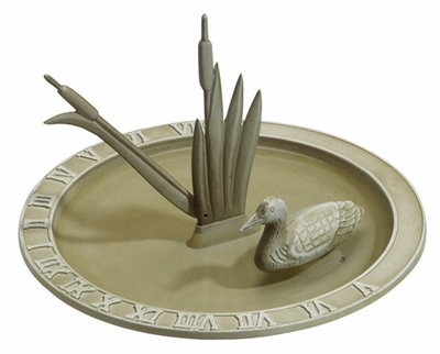 Whitehall Loon Sundial Birdbath - French Bronze