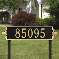 Whitehall Lyon Horizontal - Estate Lawn Address Sign - One Line