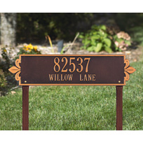 Whitehall Lyon Horizontal - Estate Lawn Address Sign - Two Line