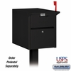 Salsbury 4350BLK Mail Chest Front And Rear Access Black