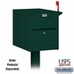 Salsbury 4350GRN Mail Chest Front And Rear Access Green