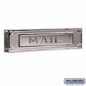 Salsbury 4075C Mail Slot Deluxe Solid Brass Chrome Finish
