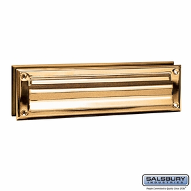Salsbury 4045B Mail Slot Standard Magazine Size Brass Finish