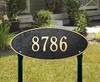 Whitehall Madison Oval - Estate Lawn Address Sign - One Line