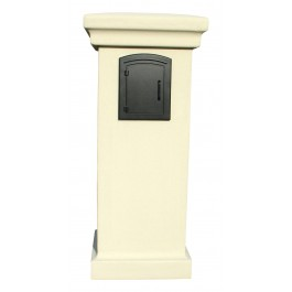 Manchester Locking Mailbox Gray with Plain Door