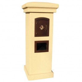 Manchester Locking Mailbox Tuscan with Decorative Door