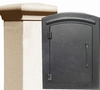 Manchester Stucco Locking Column Mailbox with Plain Door - Stucco Column Included (Choose Colors)