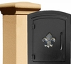 Manchester Stucco Locking Column Mailbox with Fleur de Lis Emblem - Stucco Column Included (Choose Colors)
