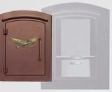Manchester with security option, Decorative Eagle, Antique Copper