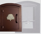 Manchester Locking Decorative Oak Tree Column Mailboxes