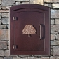 Manchester Non-Locking Column Mount Mailbox with Oak Tree Emblem in Antique Copper