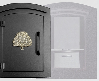 Manchester with security option, Decorative Oak Tree, Black