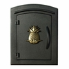 Manchester with security option, Decorative Pineapple, Black