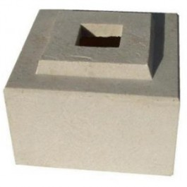 "Matching Cubic Pedestal Riser for 24"" Cubic Planter in Sandstone Color"