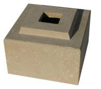 "Matching Cubic Pedestal Riser for 42"" Cubic Planter in Tan Color"