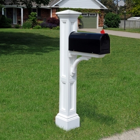 Charleston Mailbox Post White