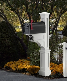 Dover Mailbox Post in White