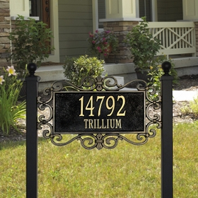 Whitehall Mears Fretwork - Estate Lawn Address Sign - Two Line
