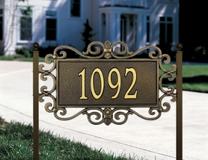 Whitehall Mears Fretwork - Standard Lawn Address Sign - One Line