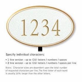 Salsbury 1430WGNL Signature Series Address Plaque