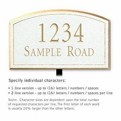 Salsbury 1420WGNL Signature Series Address Plaque