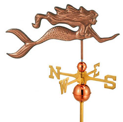 "Mermaid Full Size Weathervane - 29""L X 14""H"