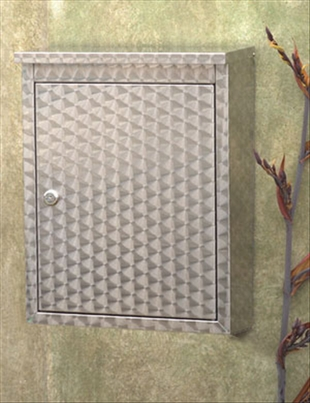 Metropolis Locking Wall Mount Mailbox with Progressive Swirl Pattern Finish
