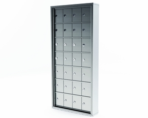 Mini Storage Cabinet Lockers - 28 Doors Recess Mount
