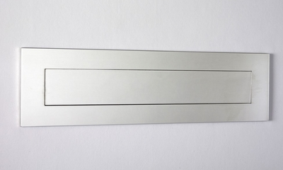 "Mirror Polished Stainless Steel Contemporary Door Mail Slot (large) 15.7"" x 3.9"""