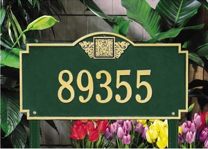 Whitehall Monogram Estate Lawn Address Sign - One Line