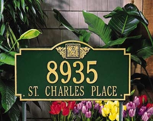 Whitehall Monogram Estate Lawn Address Sign - Two Line