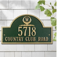 Whitehall Monogram Golf Arch - Standard Three Line Wall Plaque