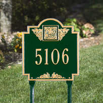 Whitehall Monogram Standard Lawn Address Sign - One Line